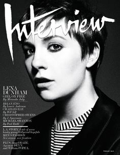 Lena Dunham Covers 'Interview' Magazine February 2013 #bw