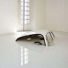 Car Sinking in Melting Floor #exhibition #installation