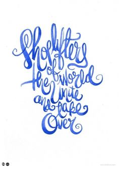 Shoplifters of the World Unite by Lord Bunn. - Shop for type @Typeverything. #typography