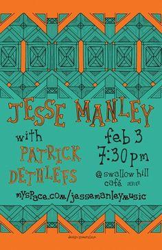 gneural #gig #denver #manley #clapper #colorado #jesse #poster #debbie #art