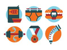 Mens_health #flat #mens #health #icons #illustration