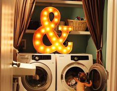36″ Ampersand & Sign by Vintage Marquee Lights