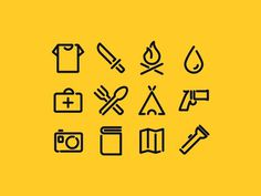 Survival icons pack #pictogram #icon #design #picto #symbol