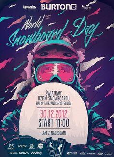 World Snowboard Day 2012 via Tumblr #flyer #design #graphic #poster #snowboard