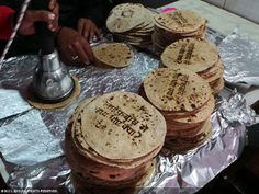 Edible Branding Roti Reminds to wash hands #india #roti #food #branding