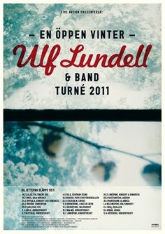 HFDP - Ulf Lundell #music #tour #poster #winter