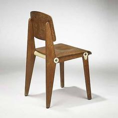 Wright Demountable Standard Chair #chair #wood #demountable #mid #century #prouv #jean