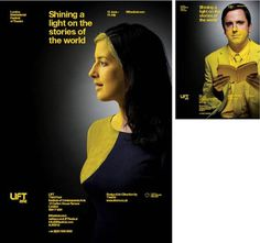 LIFT 2012 xe2x80x94 Identity/Marketing The London International Festival of Theatre, directed by Mark Ball brings theatrical experienc #yellow #direction #brand #art #poster #circle