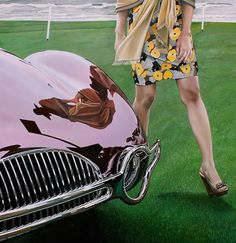 Realistic Old Polished Cars Paintings -00 #painting #car #art #realistic