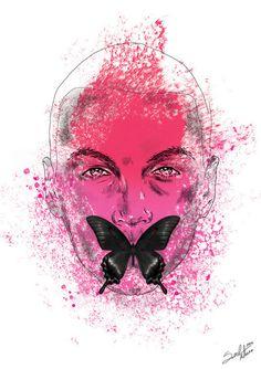 Fighter by Mateusz SudaFANPAGE #pink #illustrations #polak #polska #victim #artis #kamp #design #butterfly #homo #poland #logo #project #illustrator #gay #m #fashion #suda #mateusz #pop #ilustracja #mateuszsudacom #art #artysta