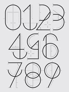 numerografia #type #number #typography