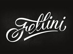 Fellini cafe #lettering #written #type #hand #typography