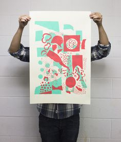 Screen Printing Experimentations - Maxime Francout #screen #print #poster #abstract