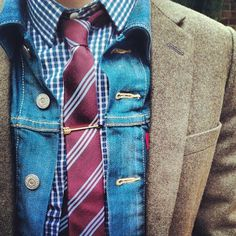 A.N.D Studio Likes | Tumblr #layers #male #fashion #denim #tweed #style
