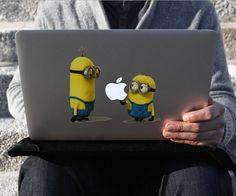 Minion Macbook Decal #tech #flow #gadget #gift #ideas #cool