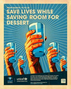 Tap Project Save Lives #poster #water #unicef #save