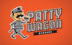 Patty Wagon // Work // Foundry Co #retro #food #illustration #vintage #logo