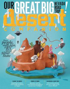 Andi Meier's clay illustration for Desert Companion magazine! #Clay #Illustration #Characters #Original