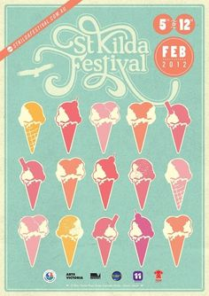 St Kilda Festival 2012 - Lillian Cutts #branding #design #graphic #melbourne #illustration #logo
