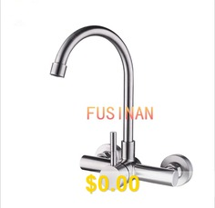 304 #Stainless #Steel #Dark #Wall #Hot #And #Cold #Kitchen #Sink #Faucet #Balcony #Pool #Faucet #- #LOW #BEND