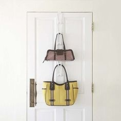 A simple, customizable storage solution for bags & purses of all sizes. #hangers #design #home #product #industrial