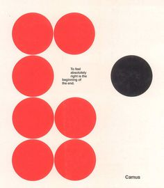 Camus :: this isn't happiness™ #graphic design #red #black #vectors #circles