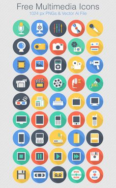 Free Flat Vector Multimedia Icon