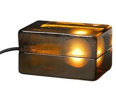 MOCA Store Online - Amber Block Lamp #sculpture #light #moca