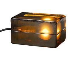 MOCA Store Online - Amber Block Lamp #sculpture #light #moca