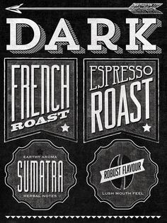 Starbucks Roast Guide Mural by Jaymie McAmmond #typography