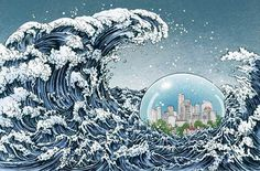 Yuko shimizu illustration #illustration #wave #japan #kanagawa