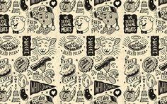 Yeah Studio #pizza #pancetta #pig #illustration