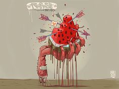 Tumblr #watermelon #arrows #illustration