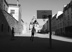 www.kayleighryleydesign.com goes to PARIS #paris #church #design #oui #travel #photography #blackandwhite #love #basketball
