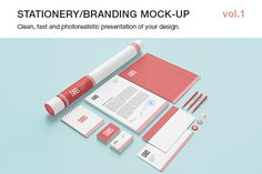 Stationery / Branding Mock-up vol.1  https://creativemarket.com/itembridge/17016-Stationery-Branding-Mock-up-vol.1  Photorealistic Branding