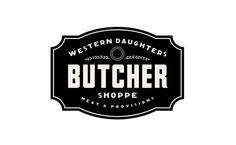 Western Daughters Butcher Shoppe Logo Design #logo design
