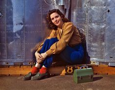 Rosie Takes a Break: 1942 | Shorpy Historical Photo Archive #ww2 #1942 #girl #kodachrome #photography #fashion #california