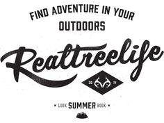REALTREE® 2014 Summer Look Book on Behance #type #hand #branding #texture
