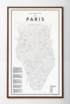 David Ehrenstråhle 2012 Guide de la ville paris | Details | Artilleriet #poster #paris #map