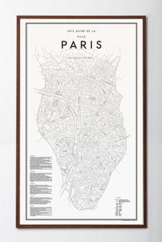 David Ehrenstråhle 2012 Guide de la ville paris | Details | Artilleriet #map #poster #paris