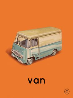 van Art Print by Ladybird Books Easyart.com #vintage #artprints #print #design #retro #art #bookcover