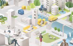 La Poste by PEYRANNE francois, via Behance #city