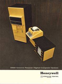honeywell yellow1 #computer #photography #retro