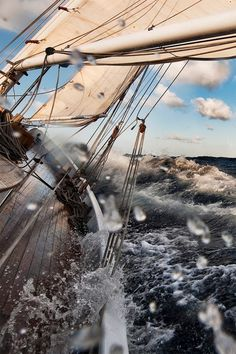 Sleepless Dreams #ocean #water #sailing #photography #sea #ship #splash #waves