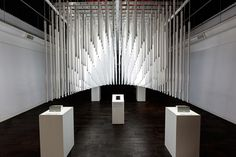 Light house fluorescent tube installation | SONOS | by SOFTlab Studio Blog Architecture + Design #light