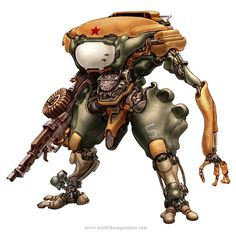 Robots: Prosthetic Commando #wwwkeiththompsonartcom #robot #sci-fi #fantasy #russian