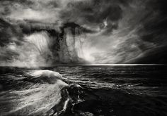 . | Flickr - Photo Sharing! #ocean #white #cloud #black #storm