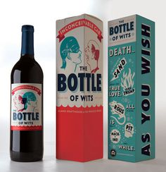 Alamo Wine's The Bottle ofWits - The Dieline: The World's #1 Package Design Website -