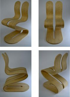 The Fluid Ribbon Chair by Michael d'Amato #interior #architecture
