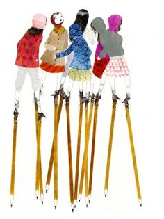 julie morstad - stilts - 04 drawing #juliemostard #drawing